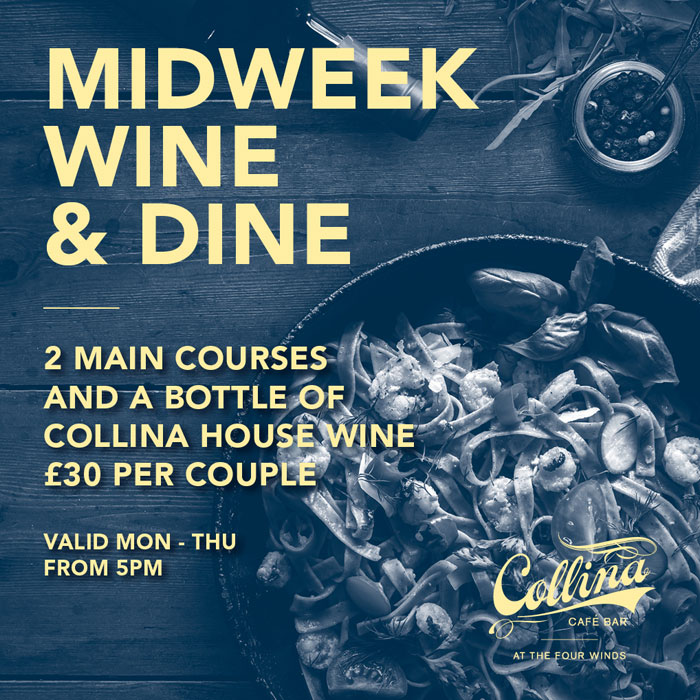 wine and dine midweek offer
